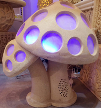 new product 3D surround sound garden light active waterproof outdoor sandstone mushroom bluetooth speaker