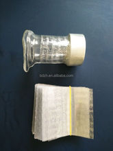 Transparent shrink tamper evident band for cap wrap