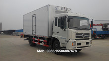 DONGFENG refrigerated cold room van truck 4X2 180HP 20-32CBM cooling van truck