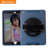 2017 Hot Sale 360 Degree Rotating hand strap case cover for ipad mini air 2