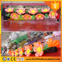 New design 6m chain wedding giant inflatable flower decoration