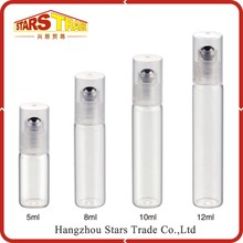 Latest Design Superior Quality Deodorant 5ml Glass Roll On Bottles