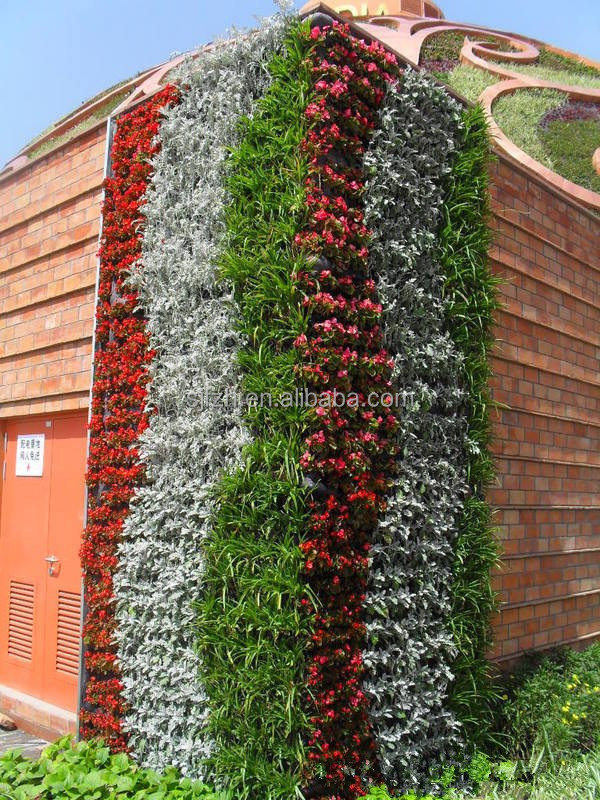 china cheap plant green wall decoration 2015 New design environmental plastic green wall verticle wall hanging decoration