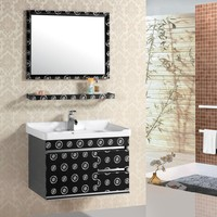AJL-8101 800*600mm mirror size good quality stainless steel bathroom vanity