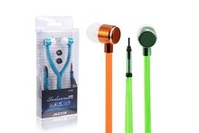 China new products shoelace earphone with in ear silicone cover