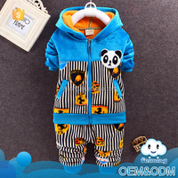 Baby clothes 1 set panda suit winter branded hooded kids clothing fashion warm good children's clothing sets