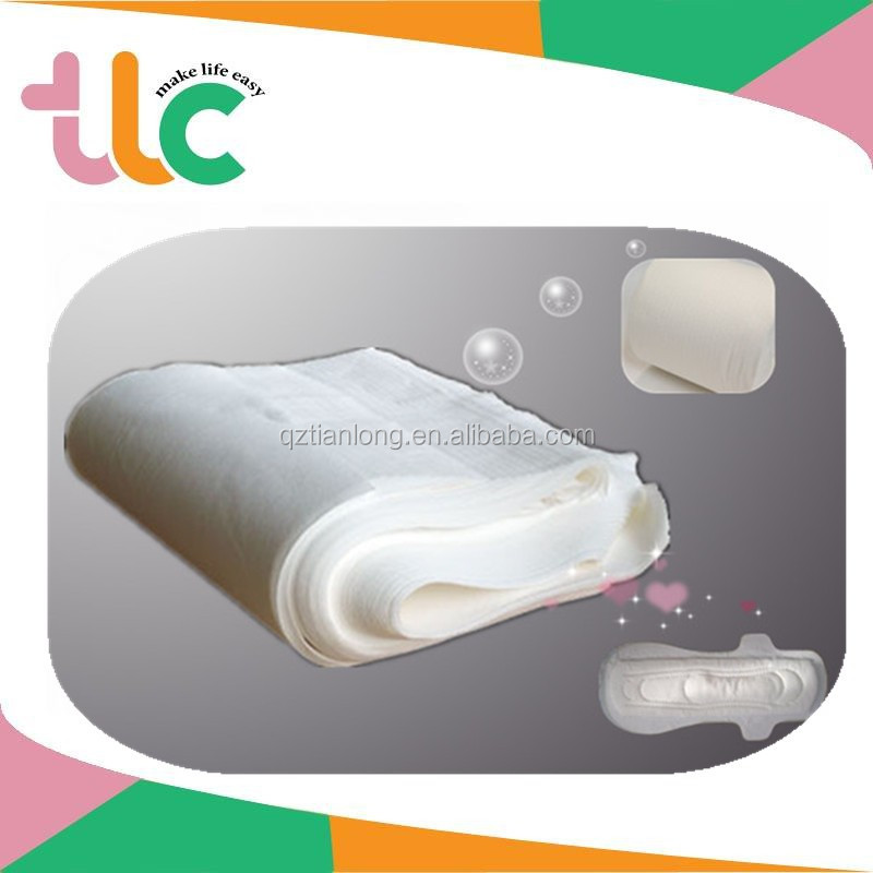 QD Sanitary Napkin Diapers Hight Soft Breathable Nonwoven Topsheet Fabric