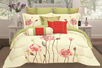 2016 popular king size embroidery comforter set