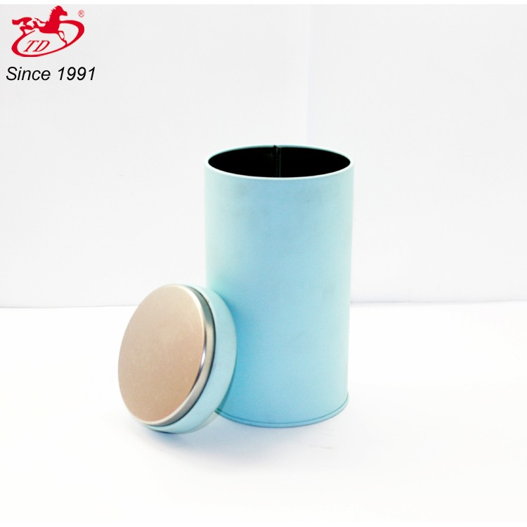 round wholesale tea tin, promotional tin can,coffee tin box