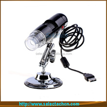 Most Popular 200X 1.3MP led ring light microscope with 4LED/8LED and measurement software SE-PC-001