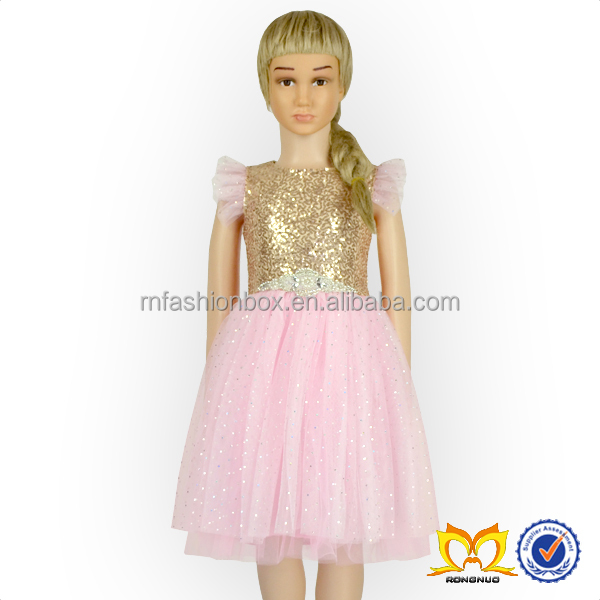 Latest Party Wear Sequin Dresses For Girls New Model Girl Dress With Pearl