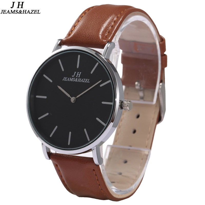 JEAMS&HAZEL 1741B casual nylon strap <strong>men</strong>`s genuine leather wrist watch for <strong>men</strong>