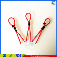 Male Black Stay Hard Time Delay silicone Penis Rings Cock Rings Set