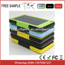 5000MAH Cell phone used portable charger with solar panel / Soalr power bank