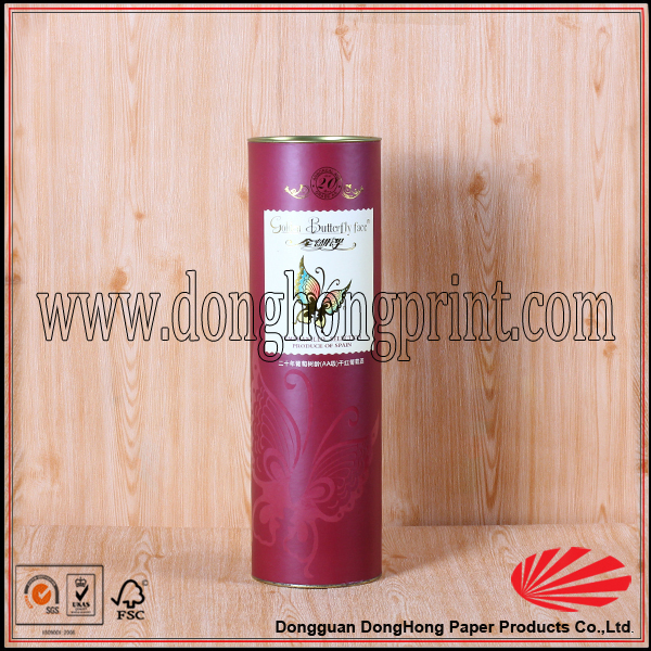 recycled wine cardboard packing tube