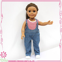 Jeans old fashioned brown face doll global hot sale plastic indian doll