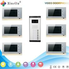 Multi Apartment 7 TFT color video door phone intercom system with photograph/video