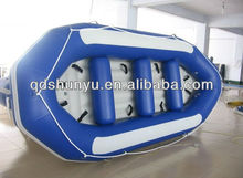 12ft inflatable floor fishing plastic raft boat for sale with CE