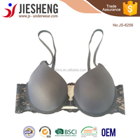 Hot Women Girls New Sexy Front Closure Lace Push Up Bra Factory Wholesale JS6256
