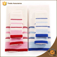 China Supplier Yarn Dyed Stripes Plain Color Waffle Weave Tea Towel Cotton Kitchen Towel