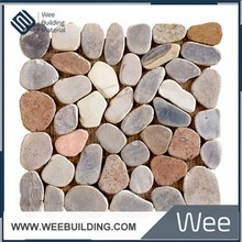ITEM:MA006A Natural Pebble Stone Mosaic Floor Mat