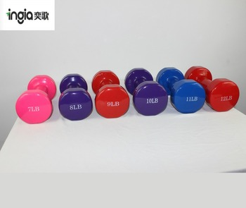 Gym Equipment Strength Exercise Dummells Handheld Portable Colorful Plastic Dip Dumbbell