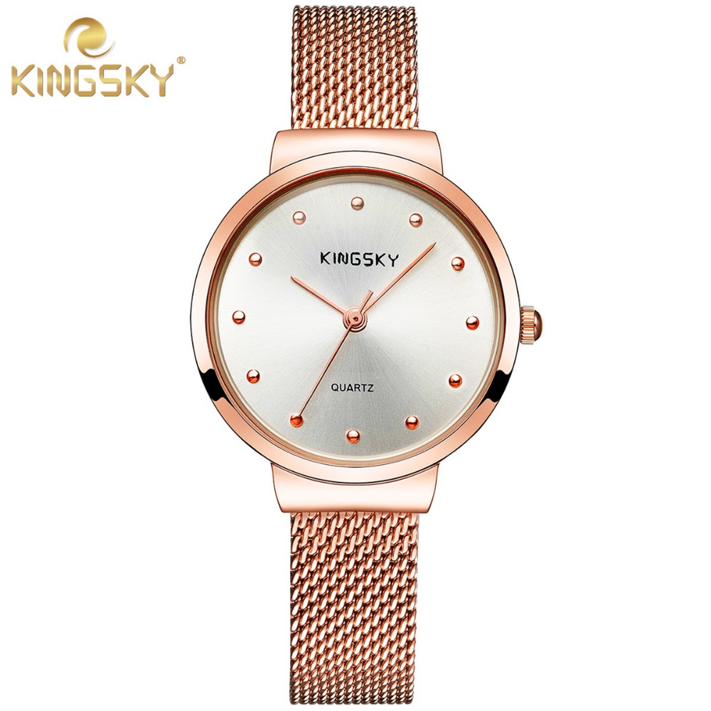 high quality stainless steel quartz ladies watches