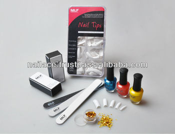 Nail file, Nail tips, Nail polish, glitter, block shiner