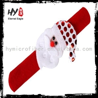 Professional xmas pat circle hand, clap bracelet, colorful led flashing pat circle