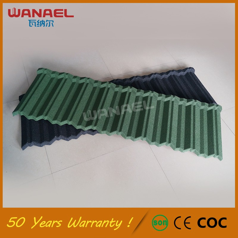 Guangzhou Factory UV Proof Galvalume Sand Coated Metal Tile in Mexico Roofing Tile