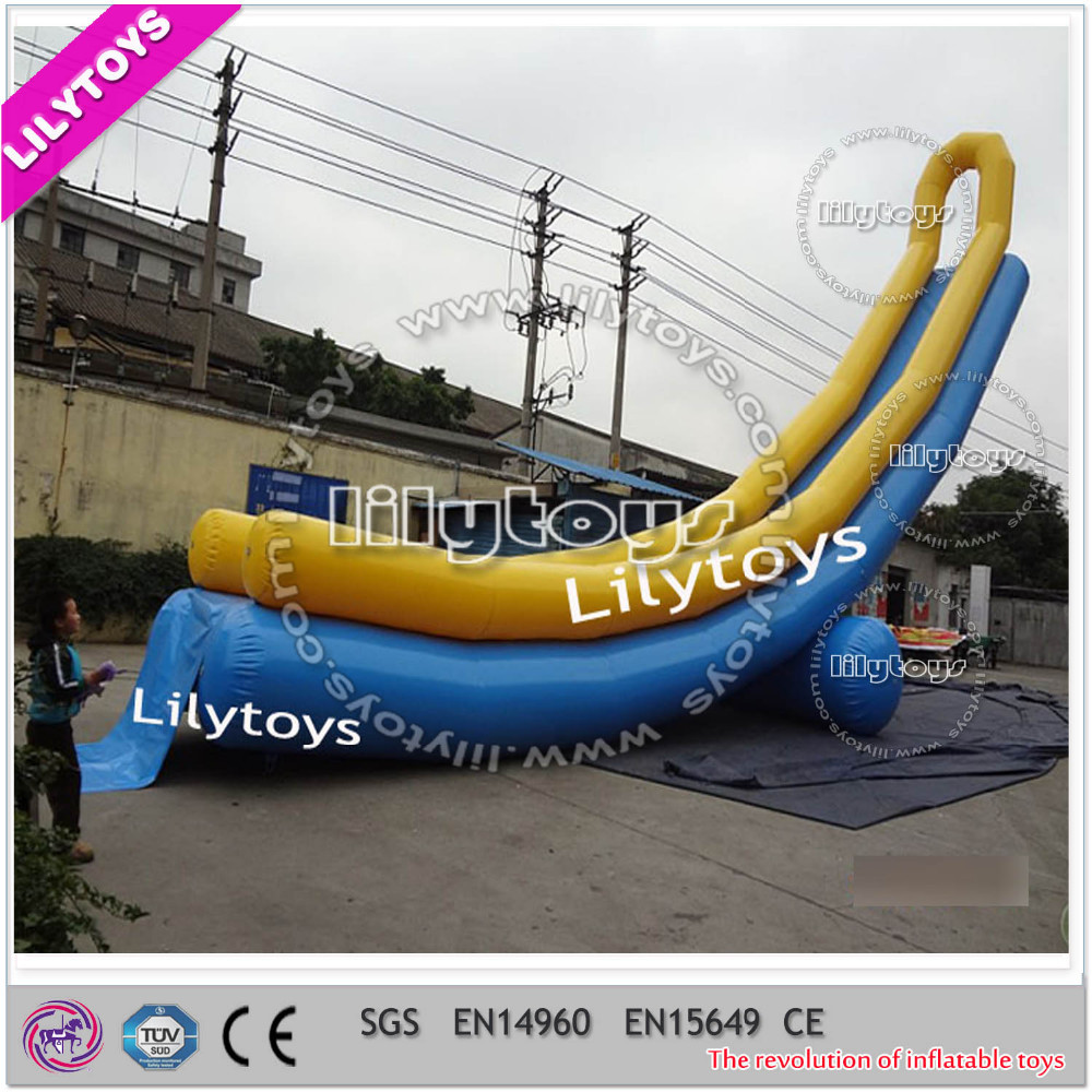 Super Lilytoys professional OEM inflatable floating water slide