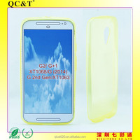 new arrival mobile phone clear tpu Ultra thin Jelly case cover for moto g2 XT1068
