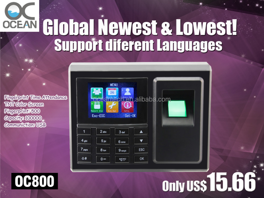 New and Cheap Fingerprint Time Attendance electronic equipment