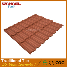 Wanael Traditional patented technology lightweight spanish style stone metal roof tiles
