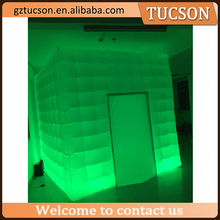giant cube inflatable tent with light for display
