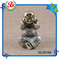SGB 348 Popular latest Top Quality Resin Golden Buddha