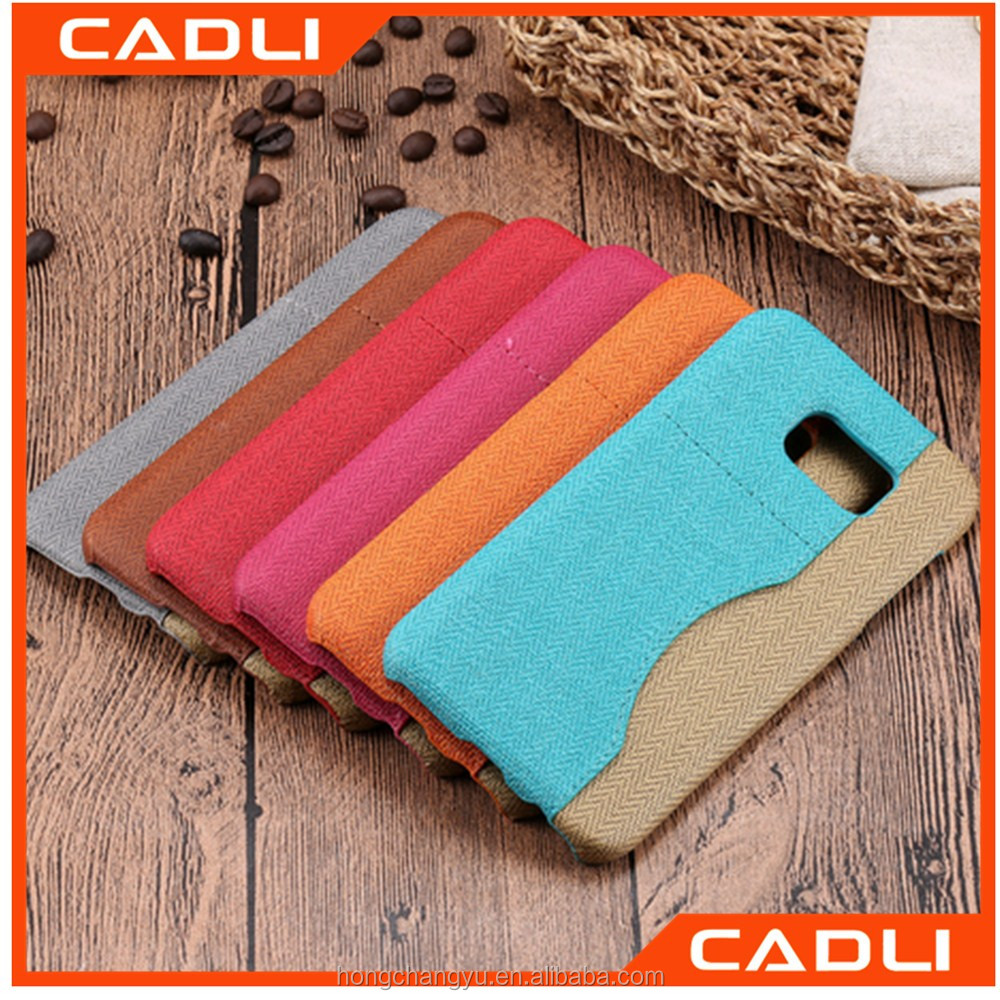 High Quality Case Retro PU Leather Hard Back Cover Card Holder Phone Cases For Samsung Galaxy S7 Case