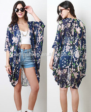 Instyles top selling products 2015 Bohemia Women Kimono Top Blouse long chiffon cardigan