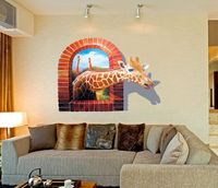 3D Giraffe wall sticker decorative home decor Item SIS-04 stock for retail selling