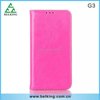 Hand Made Crazy Horse Skin PU Leather Wallet Case for LG G3 Flip Cover,Book Style Phone Case For LG G3