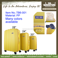 True Adventure Hot Selling High Quality 4 Wheels Luggage Set Travel Suitcase PP Material Travel Trolley Bags Luggage