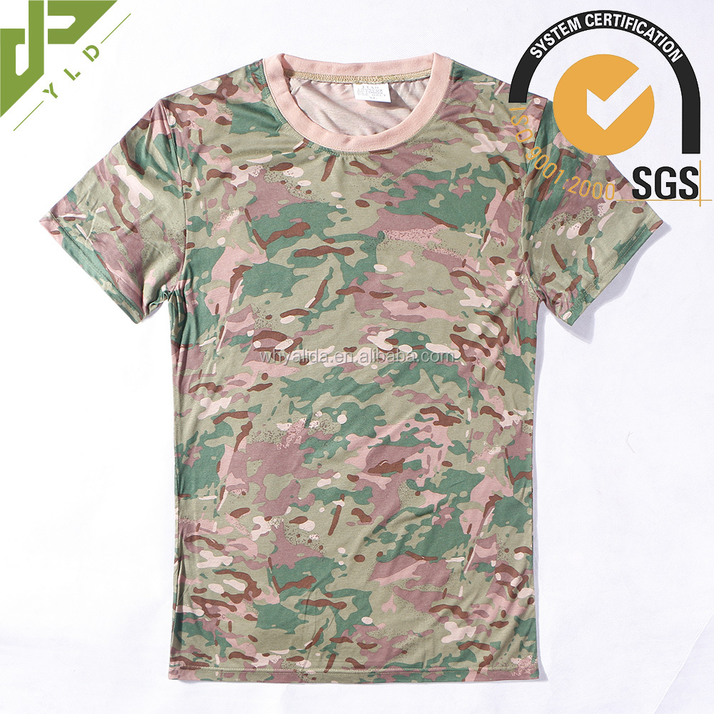 2016 new camo cool men breathable military tee shirt