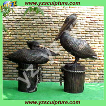 indoor decoration beautiful casting bronze pelican sculptures