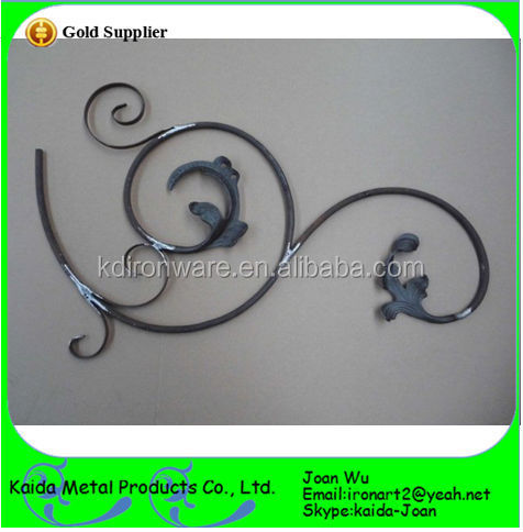 Hand Forged Wrought Iron Panels/Rosettes/Scrolls In Fencing, Gates & Stairs Decoration