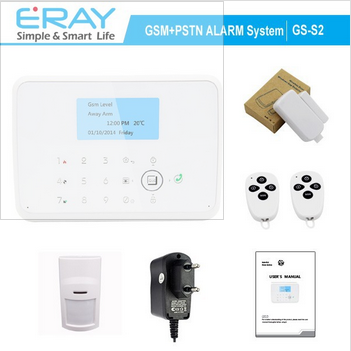 Dual network wireless /wired <strong>GSM</strong>+PSTN SMS Home Security Auto Alarm System+ Motion sensor+Remote control