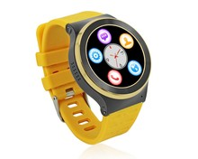 MTK6580M Quad Core 1.3Ghz Heart rate monitor android Watch resolution 360*360 OEM Smart Phone Watch GPS WIFI Screen