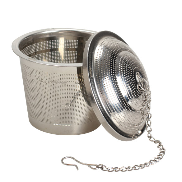 Silver Reusable 304 Stainless Mesh Herbal Ball Tea Spice Strainer Teakettle Locking Tea Filter Infuser Spice