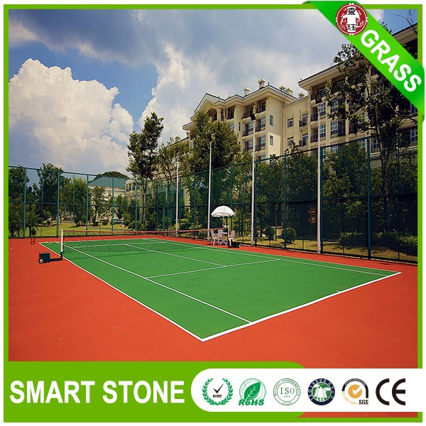 Plastic synthetic lawn carpet for tennis sport courts 16mm indoor artificial grass factory
