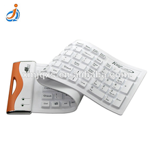2017 new product heat resistance flexibility clear silicone rubber keyboard