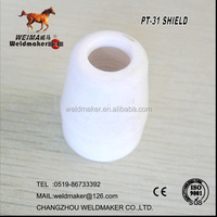 PT-31 white shield for plasma cutting torch